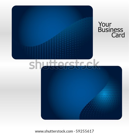 Set of blue business card, part 10. Vector illustration. - stock vector