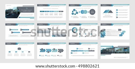 Set of blue, gray infographic elements for presentation templates. Leaflet, Annual report, book cover design. Brochure, layout, Flyer layout template design. Easy to edit.