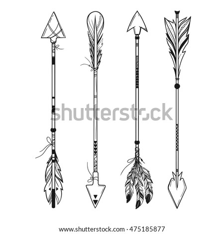 490048003189295399 likewise Tattoo Ideas furthermore Set Boho Style Arrows Feathers Ornaments 475185877 besides 508731133 additionally Drawing In Black And White. on deer illustration black and white
