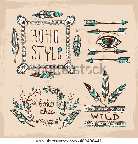 Boho chic stock images royalty free images vectors for Imagenes boho chic