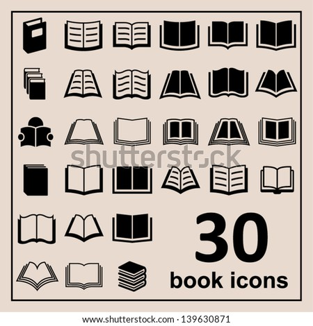 Set of books - stock vector