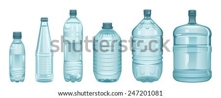 Set of bottles - stock vector