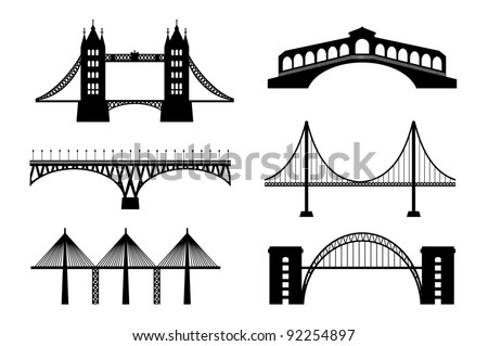 Set of bridge - stock vector