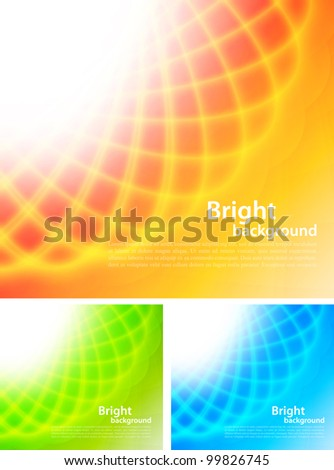 Set of bright backgrounds
