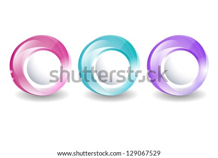 set of bright glowing web frames - stock vector