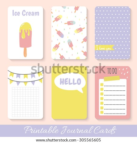 Set of bright hand-drawn cards with fruit. Lovely summer design. Template for scrapbooking, wrapping, congratulations, invitations, printable card. Vector - stock vector
