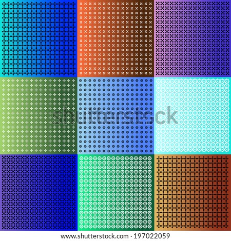set of bright vintage backgrounds - stock vector