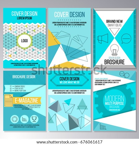 Set Of Brochure Design Wallpapers Annual Report Flyer Templates In A4 Size