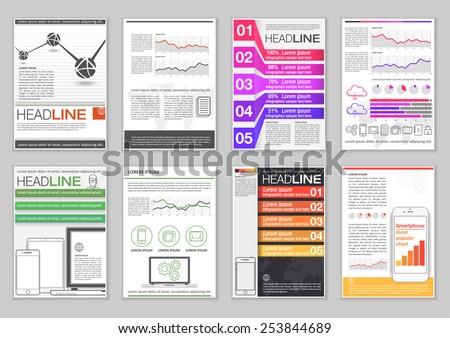 Creative Brochure Template Design Abstract Vector Stock Vector