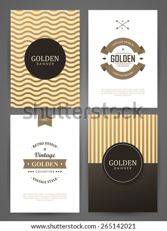 Set of brochures in vintage style. Vector design templates. Vintage frames and backgrounds.  - stock vector