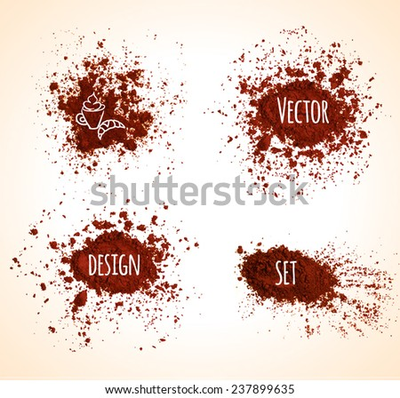Set of brown vector grunge banners - stock vector