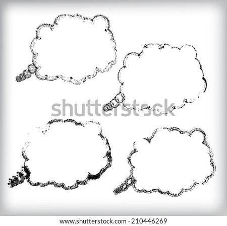 Set of bubble speeches. Vector.  - stock vector