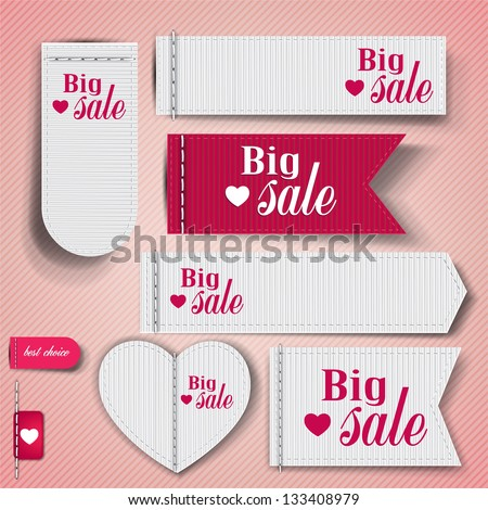 "Set of bubbles, stickers, labels, tags ""Big Sale"". Vector template - stock vector"