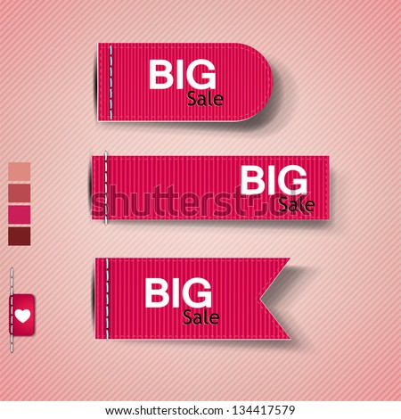 """Set of bubbles, stickers, labels, tags """"Big Sale"""". Vector template - stock vector"""