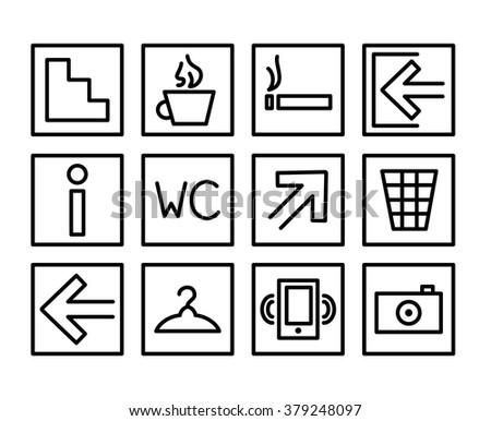 Set Building Navigation Icon Frames Vector Stock Vector 379248097 ...
