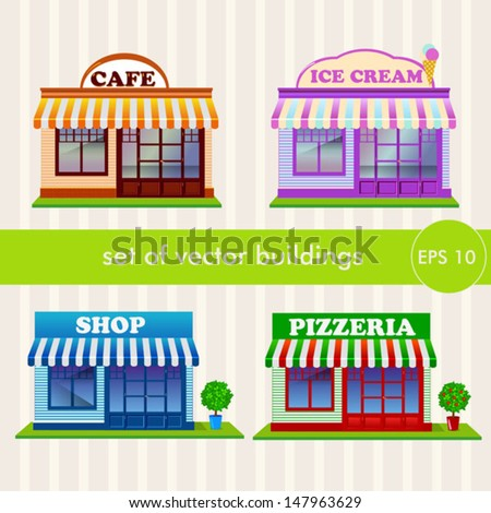 set of buildings - stock vector