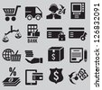 Set of business and money icons - part 3 - vector icons - stock vector