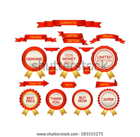 set of business badges and labels - stock vector