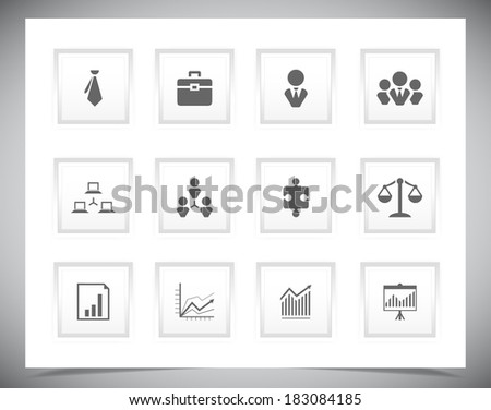 Set of business buttons, Vector illustration eps10 - stock vector