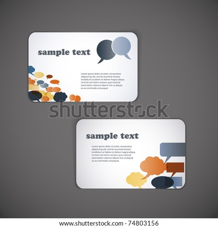 Set of business card templates - stock vector