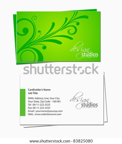 set of business card , vector elements for design. - stock vector