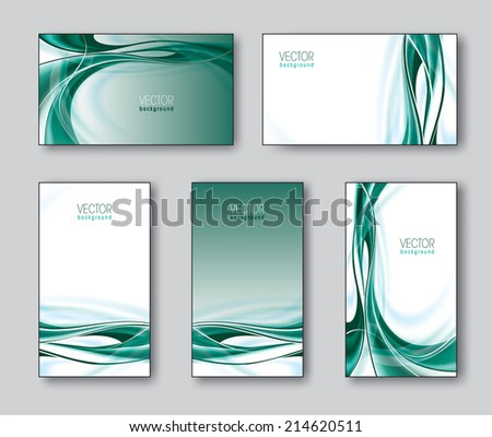 Set of Business Cards. Eps10. - stock vector