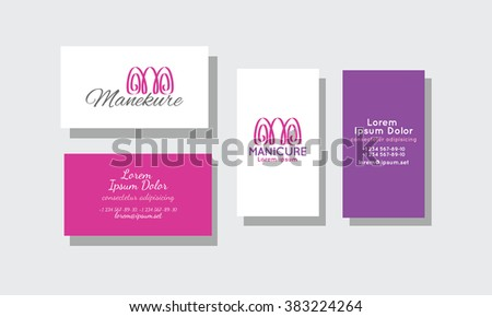 Set business cards manicure stock vector 383224264 shutterstock set of business cards for manicure colourmoves