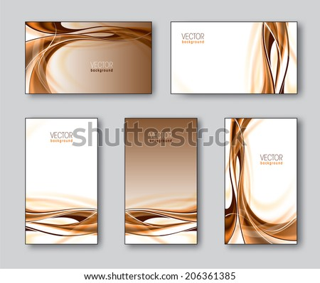 Set of Business Cards or Gift Cards. - stock vector