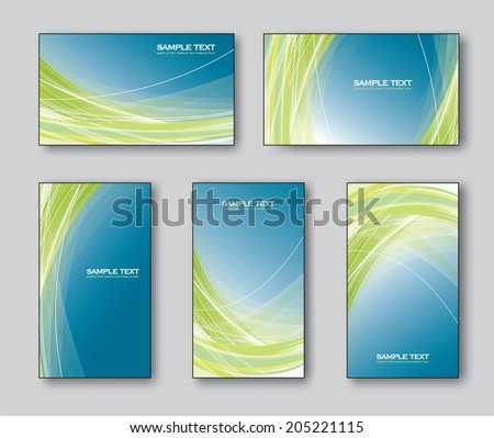 Set of Business Cards or Gift Cards. Vector Illustration.