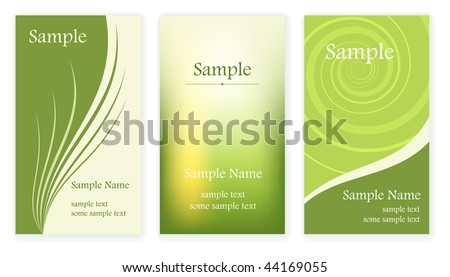 Set of business cards templates. - stock vector