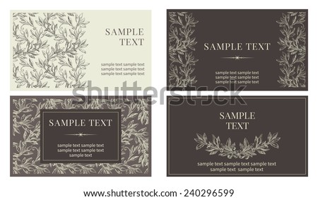 Set of  business cards. Vector banners with inscriptions  at retro style  - stock vector