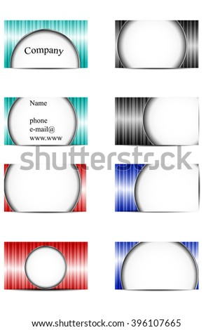set of business cards with round elements