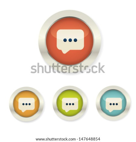 Set Business Icon Web 20 Button Stock Vector 147648854 Shutterstock