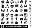Set of 36 business icons. - stock photo