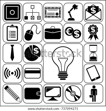 Set 22 Business Icons Symbols Collection Stock Vector 737094271