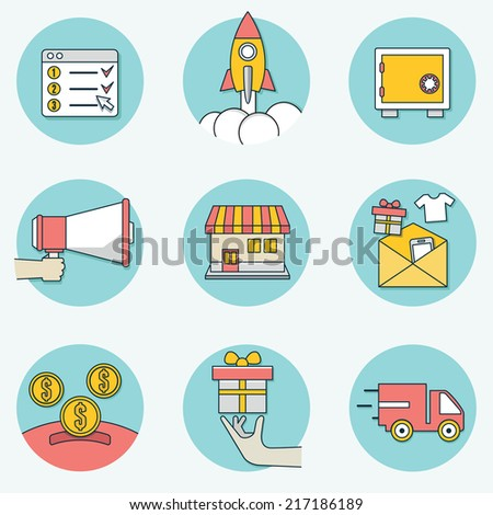 Set of business icons - part 2 - vector icons - stock vector