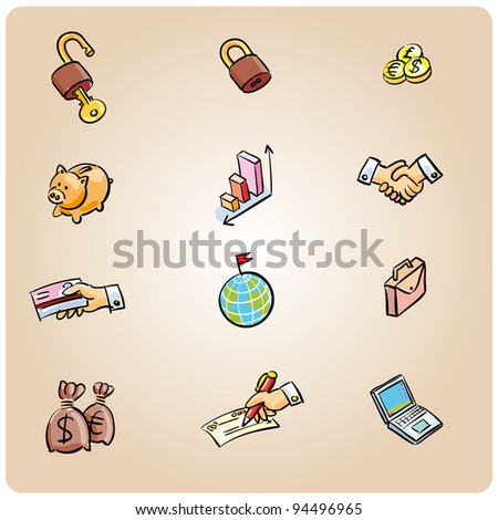 Set of 12 business icons ready for the web or some app interface - stock vector