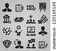 Set of business icons - vector icons - stock vector