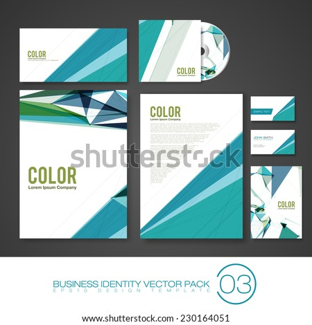 Set of Business Identity Vector Templates | Design Pack - stock vector