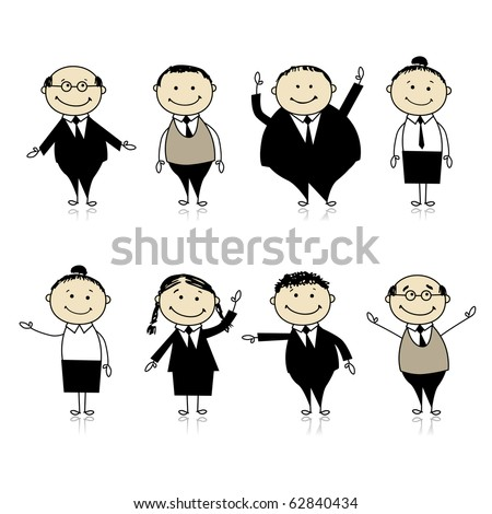 Set of business persons for your design - stock vector