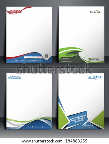 Set of Business Style Corporate Identity Template. - stock vector