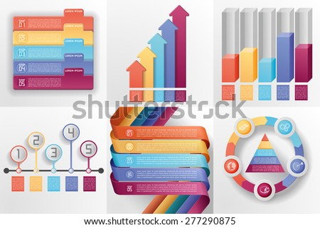 Set of business templates. Can be used for layout, diagram, web design, etc, EPS 10, contains transparency. - stock vector
