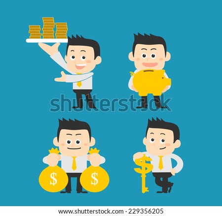 Set of businessman - stock vector
