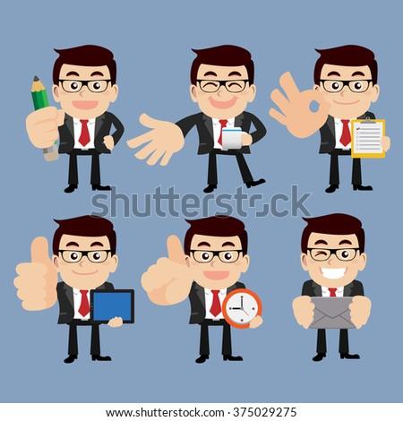 Set of businessman - stock vector