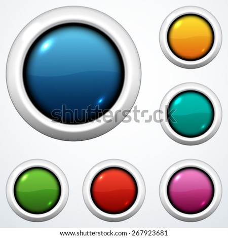 Set of buttons - stock vector