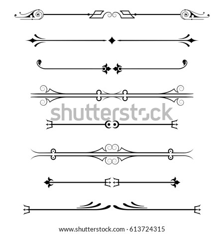 decorative lines stock images royalty free images vectors shutterstock. Black Bedroom Furniture Sets. Home Design Ideas