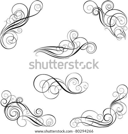 Set of calligraphy design