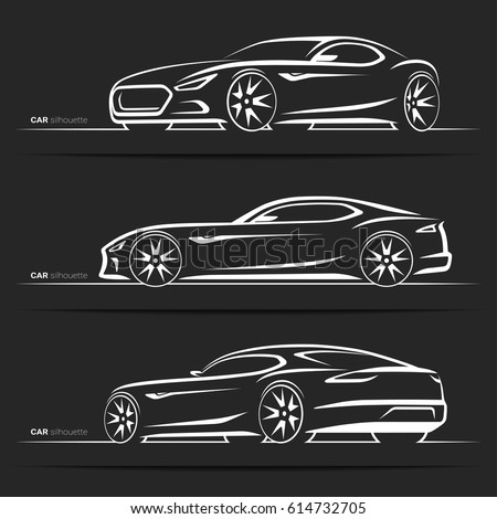 Quot Sports Car Outline Quot Stock Images Royalty Free Images
