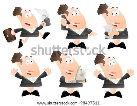 Set of Cartoon Business Women - stock vector