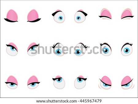 how to draw girl cartoon eyes